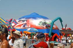 Indy Racing League display at Michigan International Speedway