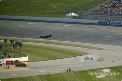 Tomas Scheckter stops at pit road exit