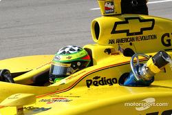 Pitstop for Tomas Scheckter: methanol hose cut open