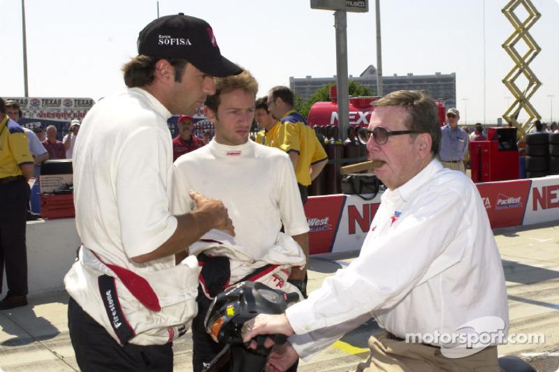 Christian Fittipaldi Cristiano da Matta and Carl Haas