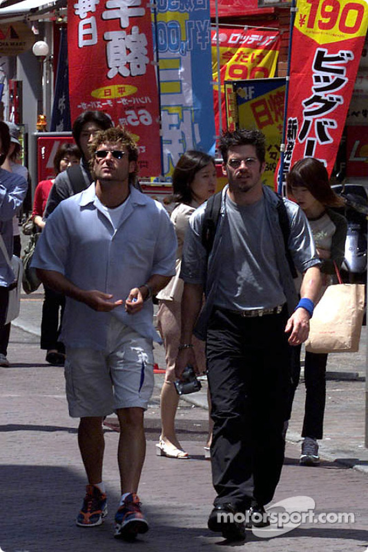 Team Player's drivers Alex Tagliani and Patrick Carpentier took some time out to check out Tokyo's trendy Shibuya district.