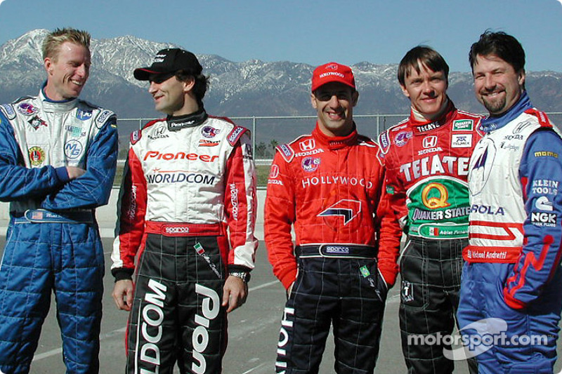 Pilotos Street Team co-captains: Memo Gidley, Alex Zanardi, Tony Kanaan,Adrián Fernández y Michael Andretti
