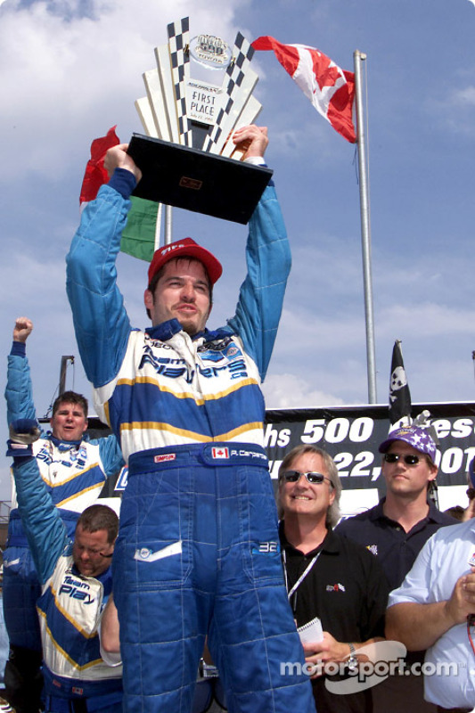 First place trophy for Patrick Carpentier