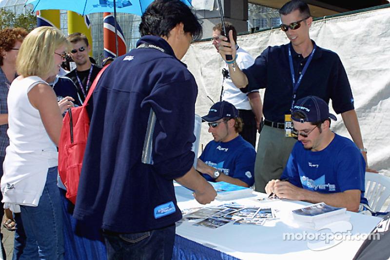 Autograph session: Alex Tagliani and Patrick Carpentier