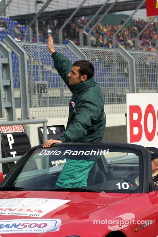 Drivers parade: Dario Franchitti