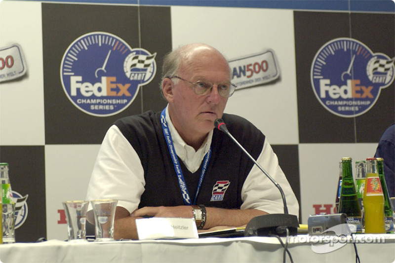 Press conference with CART CEO Joseph F. Heitzler