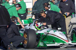 Dario Franchitti in the pits