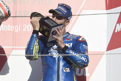 Podium tercero, Maverick Viñales, Team Suzuki Ecstar MotoGP