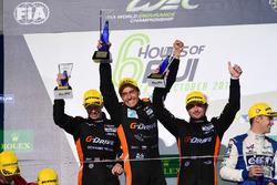 Podium LMP2: race winners #26 G-Drive Racing Oreca 05 - Nissan: Roman Rusinov, Alex Brundle, Will Stevens