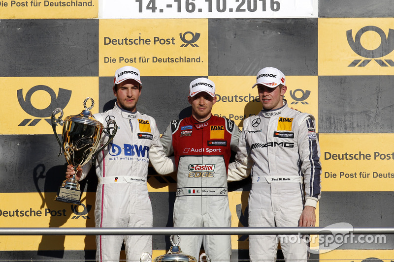 1. Edoardo Mortara, 2. Christian Vietoris, 3. Paul di Resta