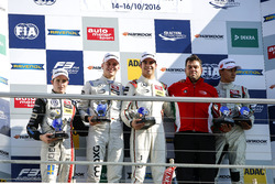 Champion Podium: Champion Lance Stroll, Prema Powerteam Dallara F312 - Mercedes-Benz; second place Maximilian Günther, Prema Powerteam Dallara F312 - Mercedes-Benz; third place George Russell, HitechGP Dallara F312 - Mercedes-Benz; Best team Rene Rosin, Prema Powerteam, Best Rookie Joel Eriksson, Motopark Dallara F312 - Volkswagen