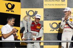Podium de campeonato: segundo, Edoardo Mortara, Audi Sport Team Abt Sportsline, Audi RS 5 DTM.