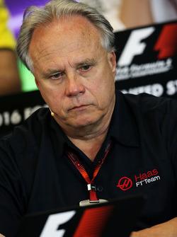 Gene Haas, président Haas Automotion lors de la conférence de presse de la FIA