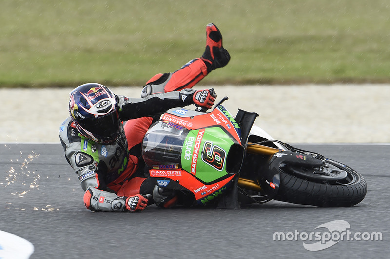 9. Accidente de Stefan Bradl, Aprilia Racing Team Gresini