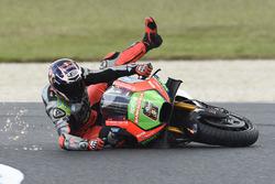 Choque de Stefan Bradl, Aprilia Racing Team Gresini