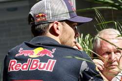 Pierre Gasly met Dr Helmut Marko, Red Bull Motorsport Consultant