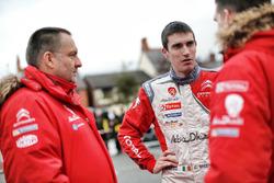 Craig Breen, Citroën DS3 WRC, Abu Dhabi Total World Rally Team with Yves Matton, Citroën Motorsport Director
