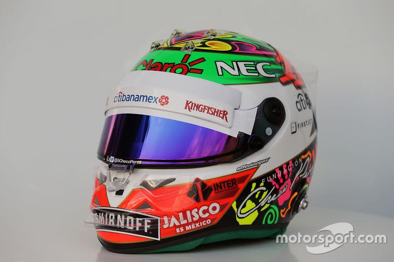 Серхио Перес приготовил яркий шлем для домашней гонки в Мексике