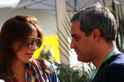 Juan Pablo Montoya, with his wife Connie Montoya