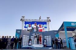 Podium: Race winner Sébastien Buemi, Renault e.Dams; second place Sam Bird, DS Virgin Racing; Felix Rosenqvist, Mahindra Racing