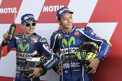 Pole. Jorge Lorenzo, Yamaha Factory Racing, tercero, Valentino Rossi, Yamaha Factory Racing