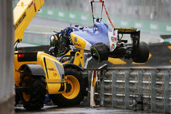 The Sauber C35 of Marcus Ericsson, Sauber F1 Team, who crashed out of the race
