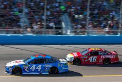 Brian Scott, Richard Petty Motorsports Ford, Michael Annett, HScott Motorsports Chevrolet