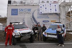Nani Romaa, Alex Haro, Toyoya Gazoo Racing; Xevi Pons, Rubén García, Ford South Racing; Cristian España, Team Pedrega KTM