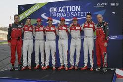 Ralf Jüttner, Oliver Jarvis, Loïc Duval, Lucas di Grassi, Benoît Tréluyer, Marcel Fässler, André Lotterer, Audi Sport Team Joest, Dr. Wolfgang Ullrich