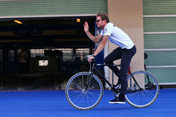 Nico Rosberg, Mercedes AMG F1 on a bicycle