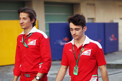 Massimo Rivola, Ferrari Driver Academy Director with Charles Leclerc, Haas Test Driver and GP3 Champion with ART