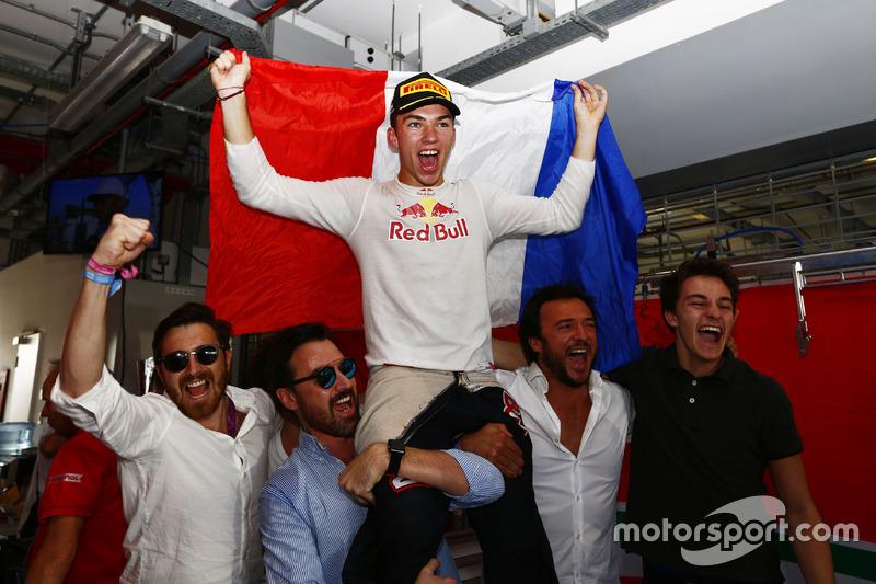 El campeón, Pierre Gasly, PREMA Racing