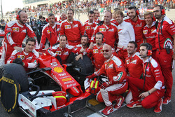 Sebastian Vettel, Ferrari SF16-H sur la grille