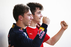 2016 GP3 Series champion Charles Leclerc, ART Grand Prix and 2016 GP2 Series champion Pierre Gasly, PREMA Racing