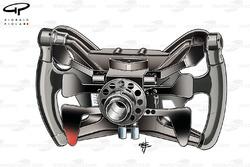 Рулевое колесо Себастьяна Феттеля в Red Bull RB7, вид сзади