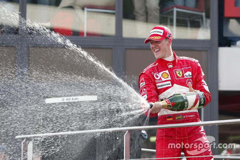 Podio: Michael Schumacher, Ferrari