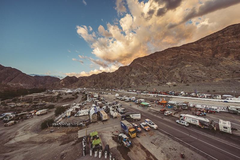 El vivac del Rally Dakar 2017 en San Juan, Argentina