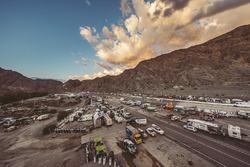 The bivouac of Rally Dakar 2017 in San Juan, Argentina