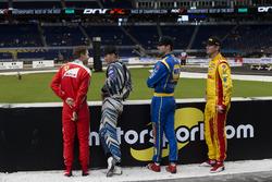 Sebastian Vettel, Scott Speed, Alexander Rossi and Ryan Hunter-Reay, talk