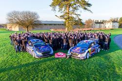 Jubelstimmung: Sébastien Ogier, Julien Ingrassia, M-Sport, Ford Fiesta WRC; Ott Tänak, Martin Järveoja, M-Sport, Ford Fiesta WRC