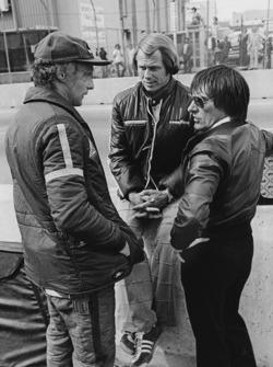 Niki Lauda, Brabham BT46-Alfa Romeo, mit Bernie Ecclestone, Brabham, Teambesitzer