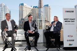 NASCAR track presidents Bryan Sperber (Phoenix Raceway), Dave Allen (Auto Club Speedway), and Chris Powell (Las Vegas Motor Speedway)