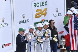 Podium GTLM: first place Joey Hand, Dirk Müller, Sébastien Bourdais, Ford Performance Chip Ganassi Racing with Dario Franchitti