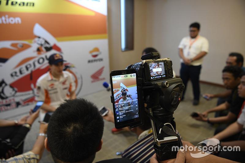 Marc Marquez, Repsol Honda Team im Gespräch mit der Presse