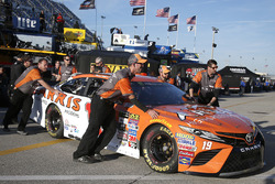 The car of Daniel Suarez, Joe Gibbs Racing Toyota