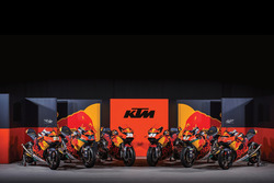 All KTM bikes at the MotoGP series