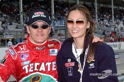 Adrian Fernandez and girlfriend Michelle