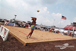 Beach volley on the infield