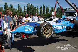 Alex Tagliani's wrecked car