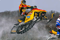 Patrick Carpentier on his snowmobile